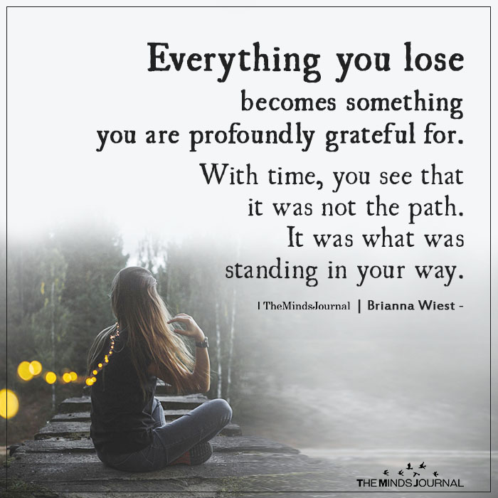Everything you lose