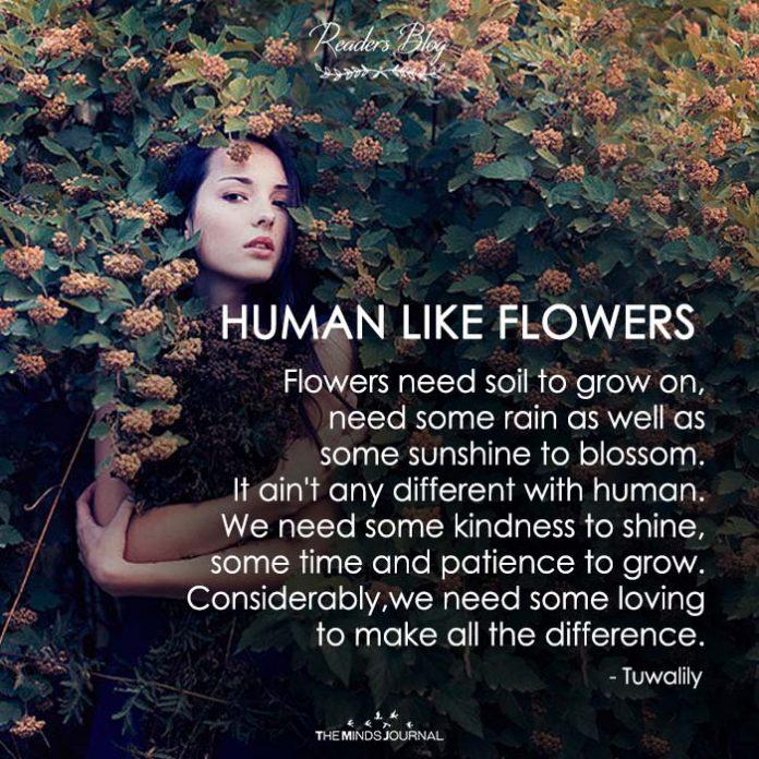HUMAN LIKE FLOWERS