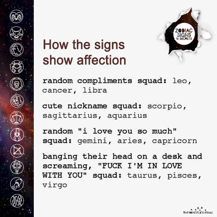 How The Signs Affection