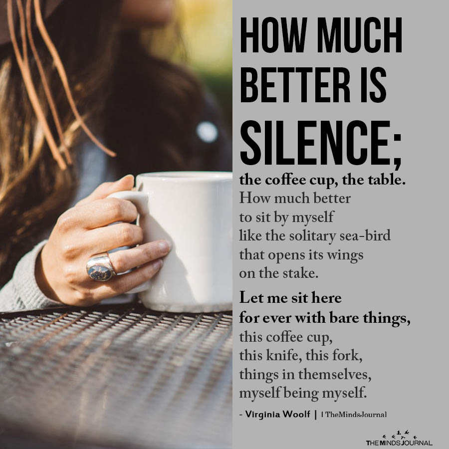 How much better is silence
