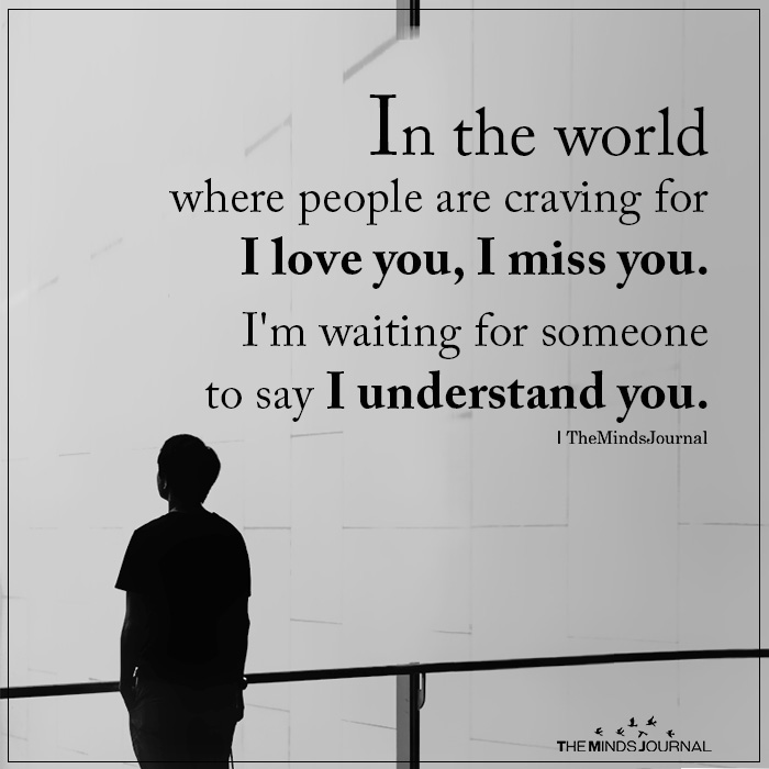 In the world where people are craving for I love you