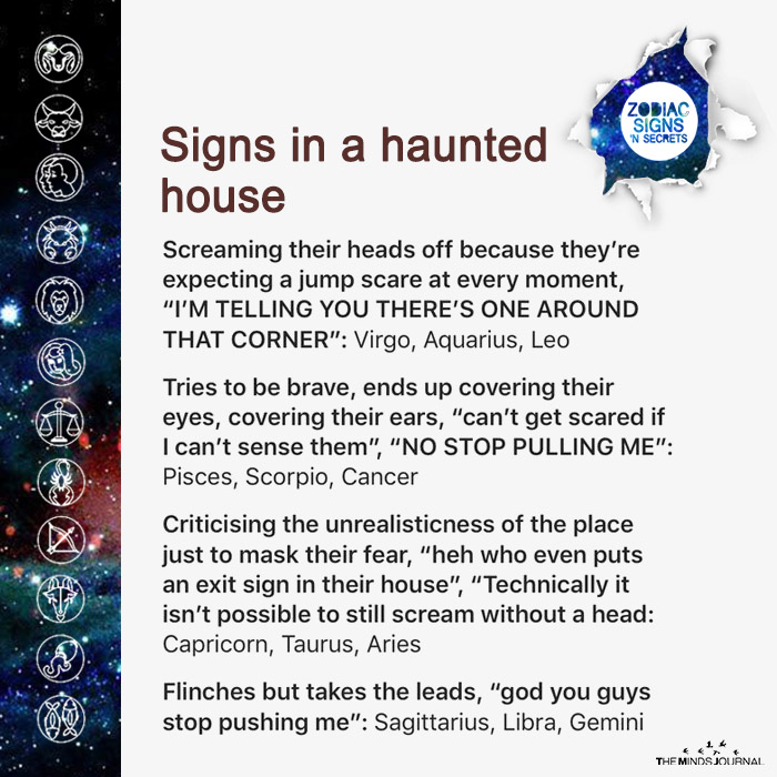 Signs In A Haunted House