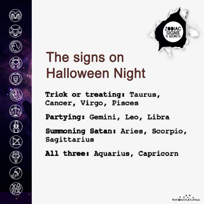 The Signs On Halloween Night