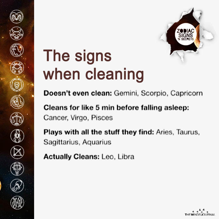 The Signs When Cleaning