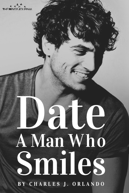 date a man who smiles pin