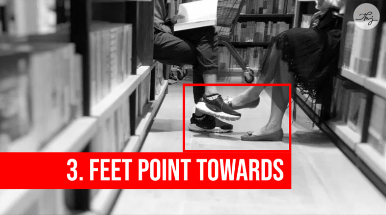 feet point towards