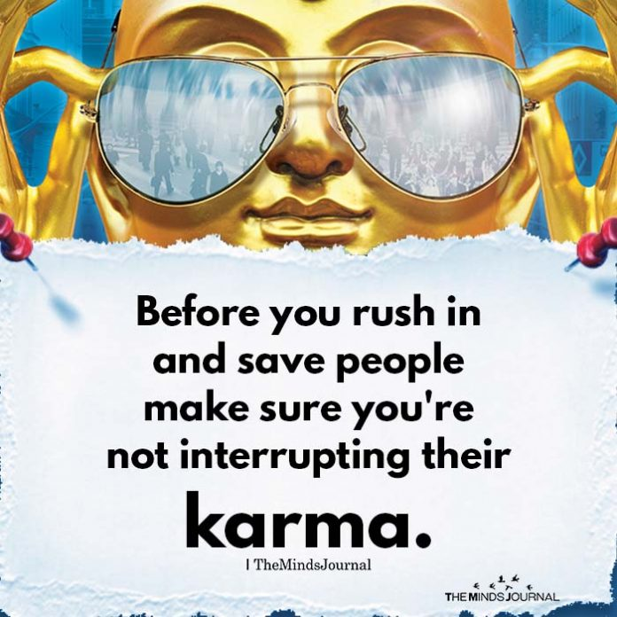 Before you rush in