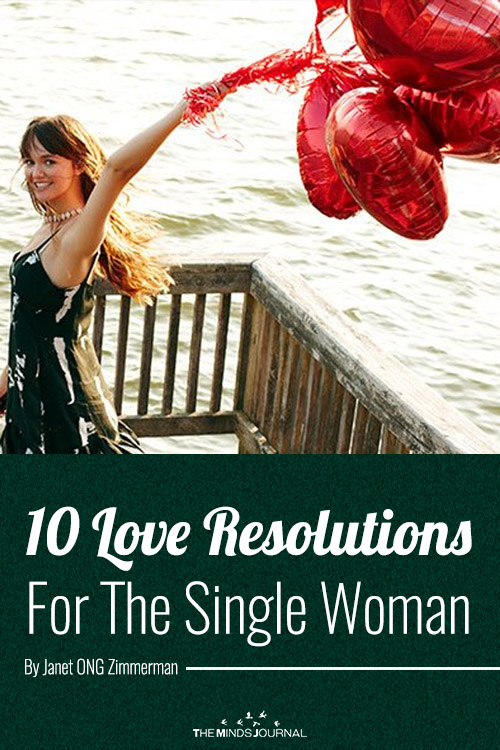 love resolution for single woman pin
