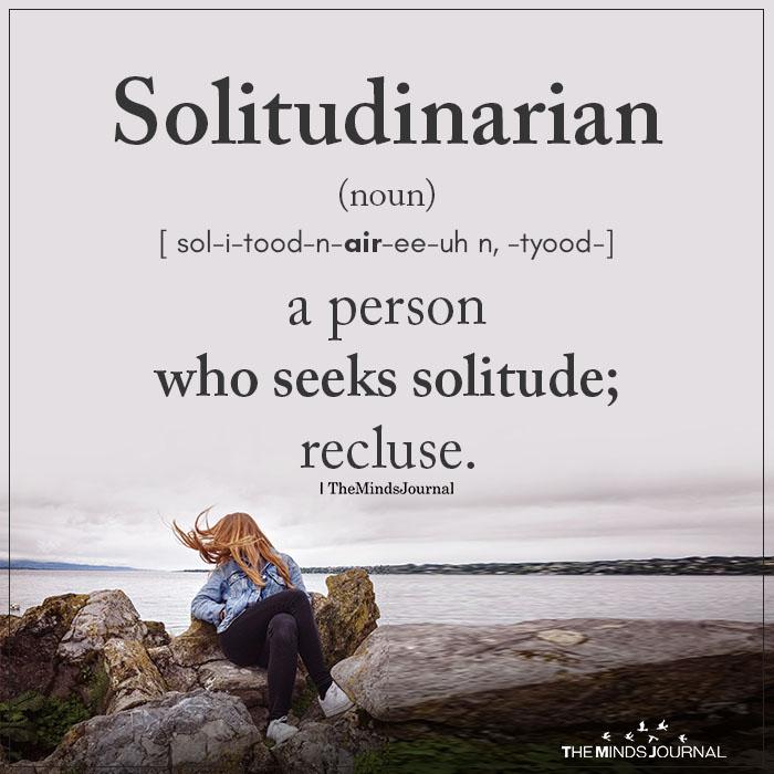 solitudinarian
