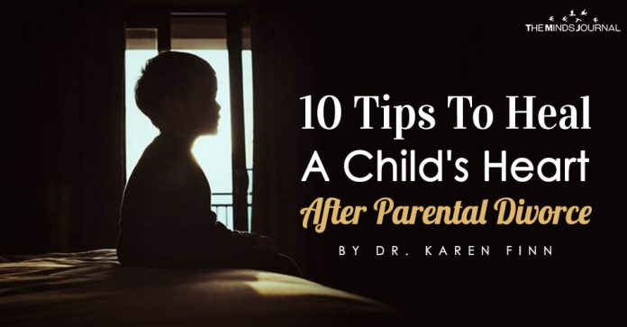 tips to heal a child's heart after divorce