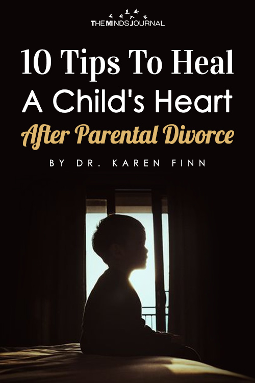 tips to heal a child's heart after divorce pin