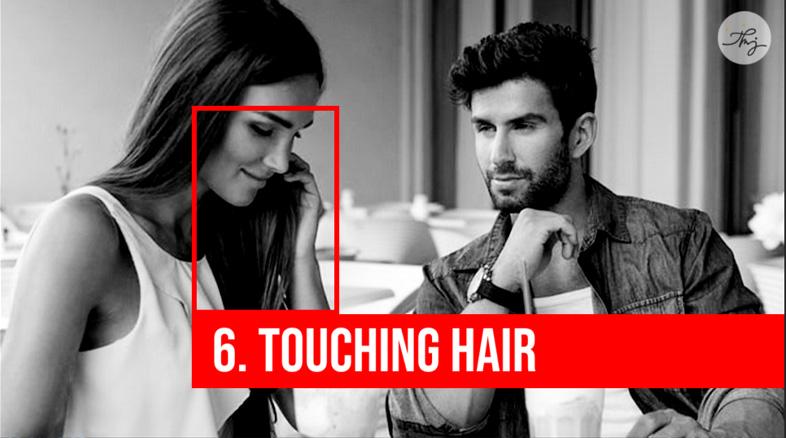 touching hair