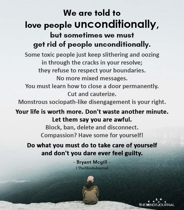We Are Told To Love People Unconditionally