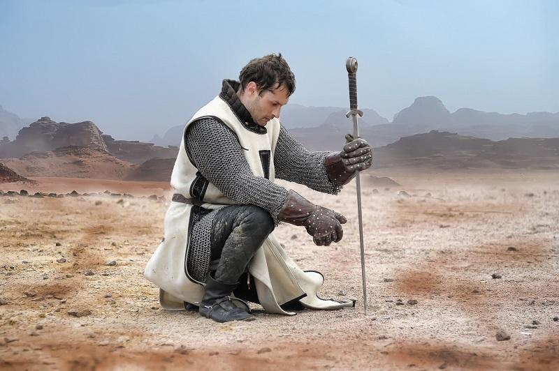 weary knight sitting