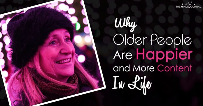 why older poeple are more content and happier in life
