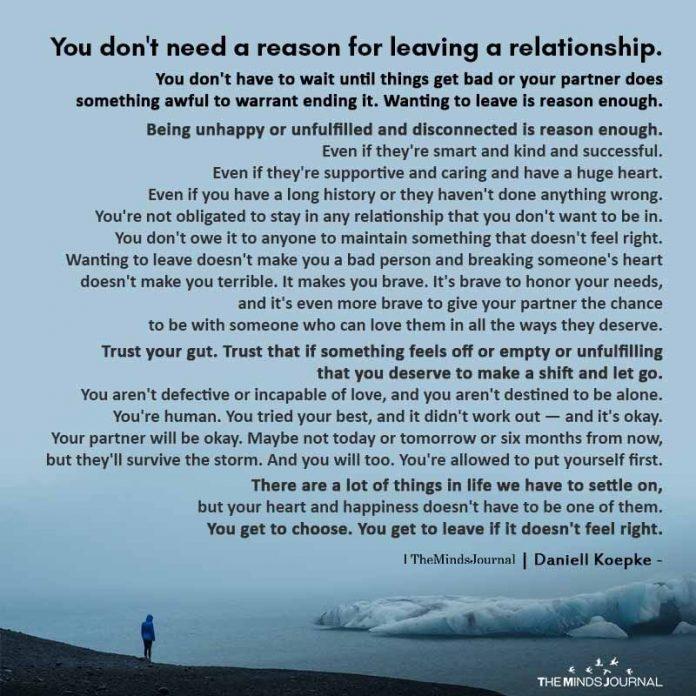 you dont need reason