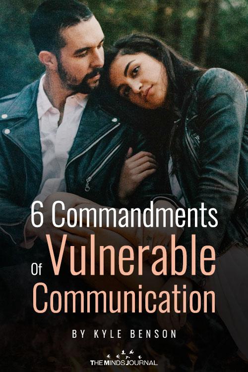 6 commandments of vulnerable communication pin