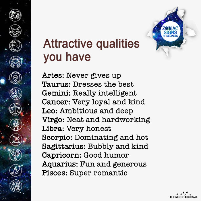 Attractive Qualities Signs Have