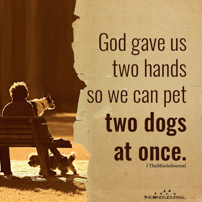 God gave us two hands