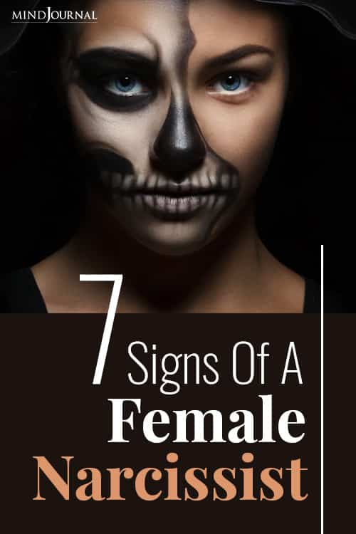 Signs of Female Narcissist pin