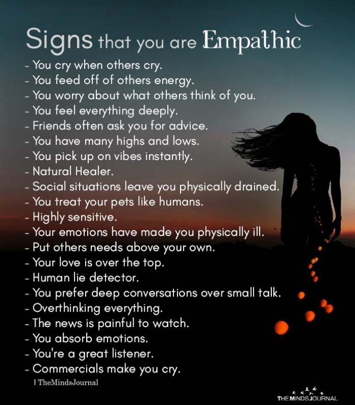 Signs that you are Empathic