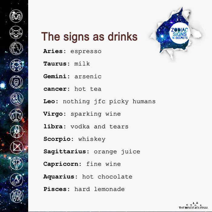 The Signs As Drinks