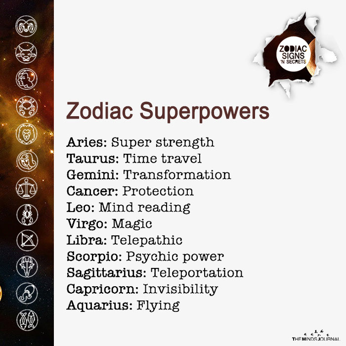 Zodiac Superpowers