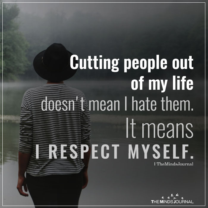 cutting people out
