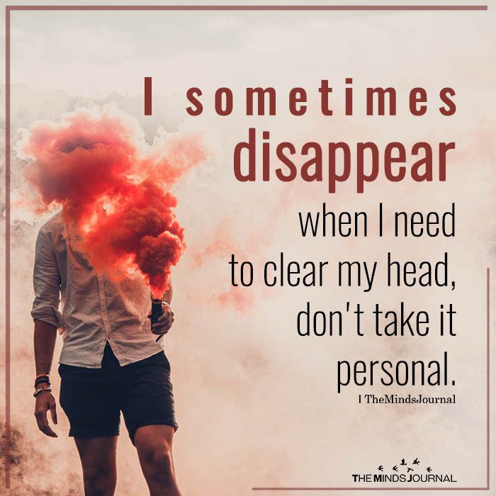 i sometimes disappear