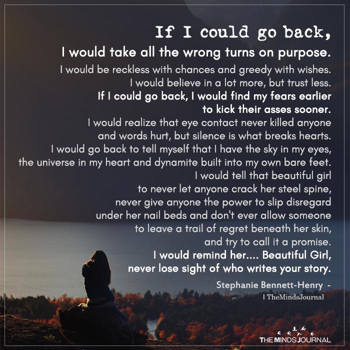 if i could go back