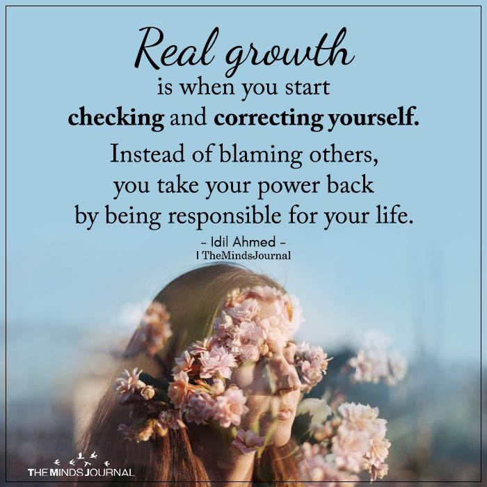 real growth is when you start checking