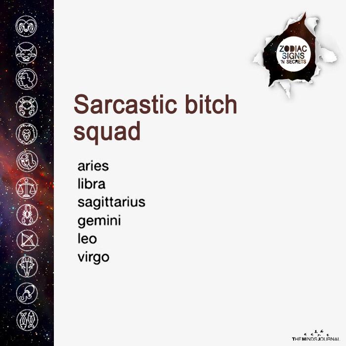 sarcastic bitch squad