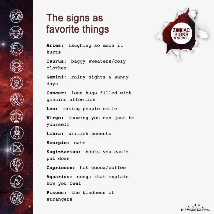 The Signs As Favorite Things