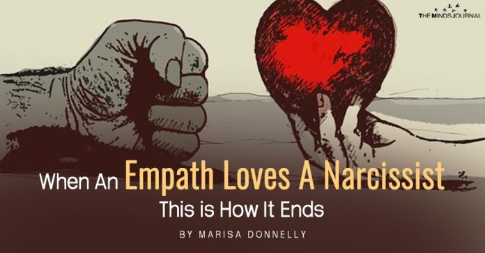 when an empath loves a narcissist