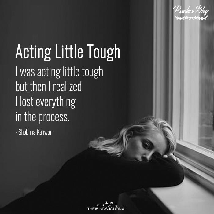 Acting Little Tough