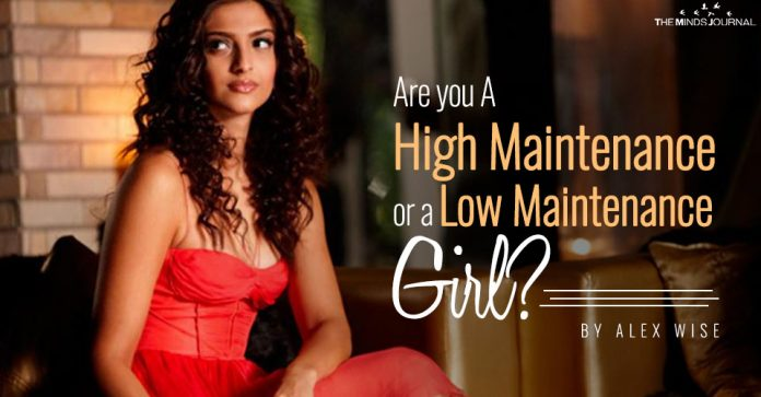 Are you A High Maintenance or a Low Maintenance Girl pin