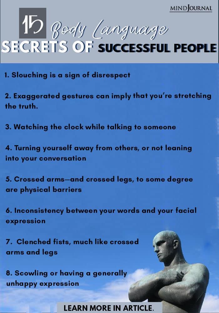 Body Language Secrets Successful People Pin info