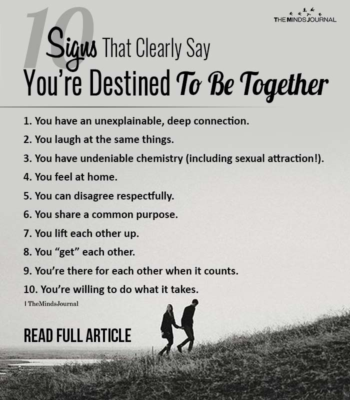 Signs That Clearly Say You're Destined