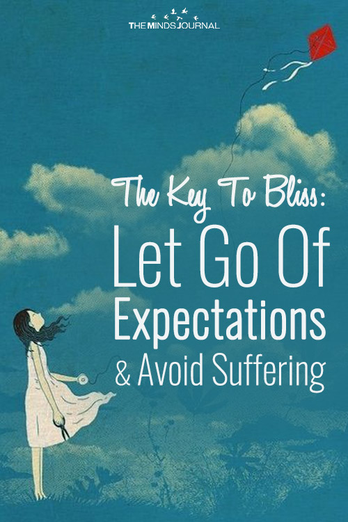 The Key To Bliss Let Go Of Expectations & Avoid Suffering pin