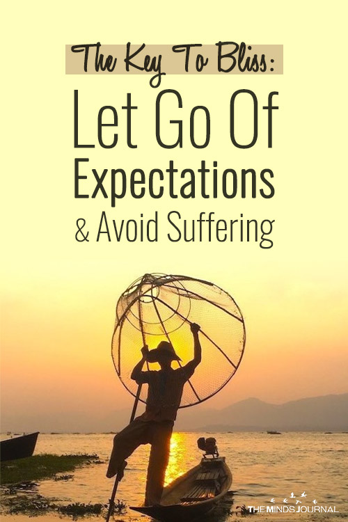The Key To Bliss Let Go Of Expectations pin