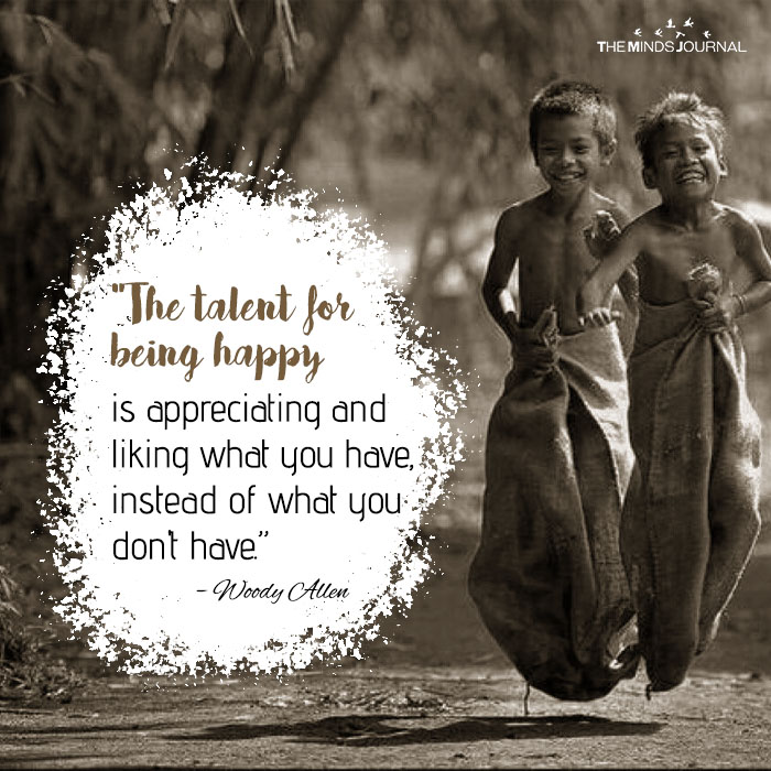 the talent for being happy