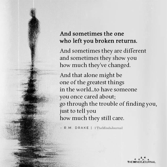 And Sometimes The One Who Left