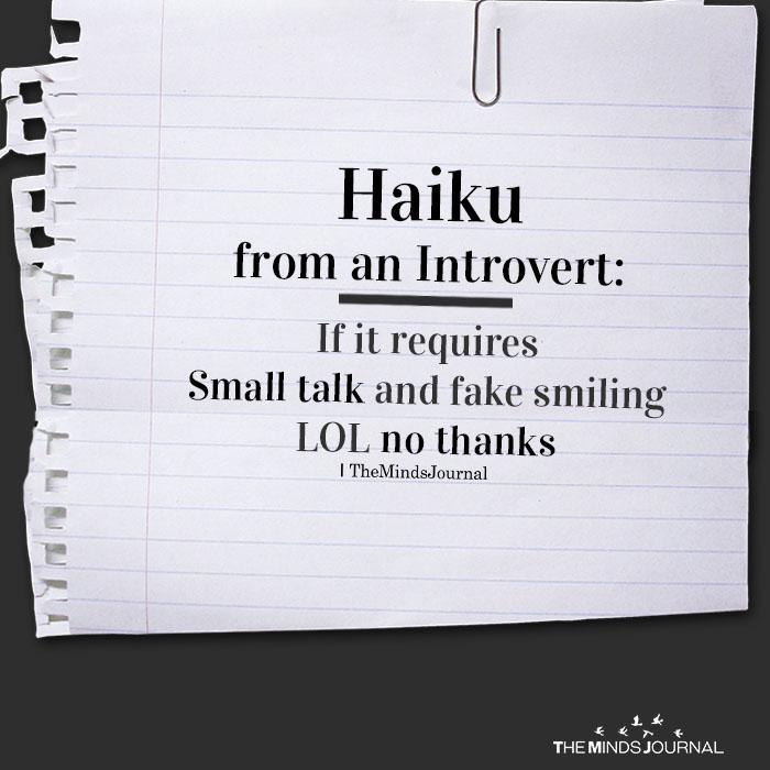 haiku from an introvert