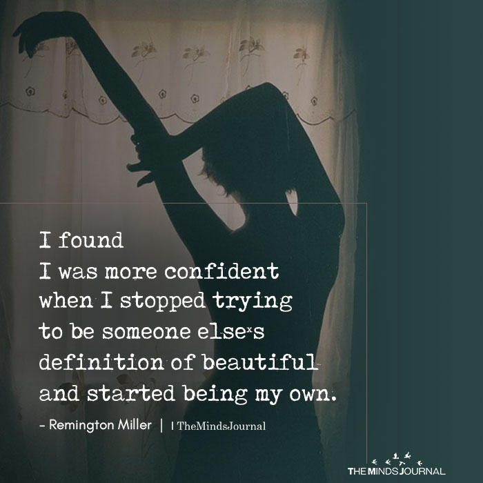 I Found I Was More Confident When I Stopped Trying To Be Someone Else