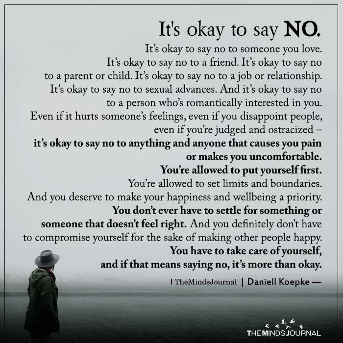 its okay to say no