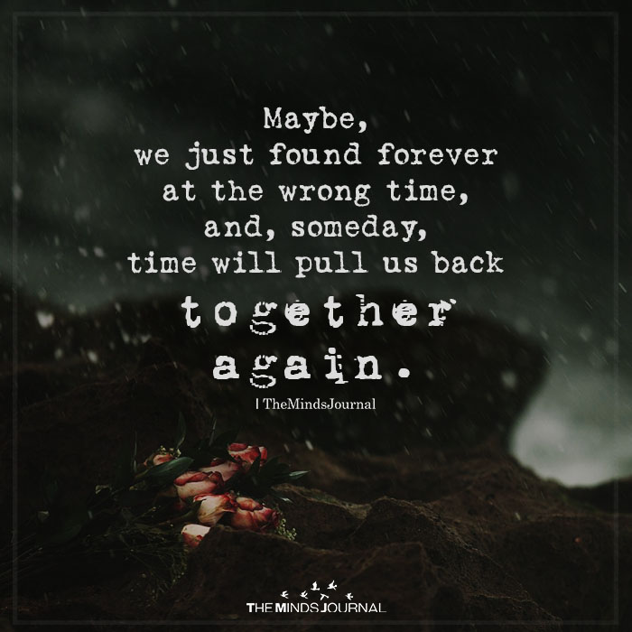 maybe we just found forever