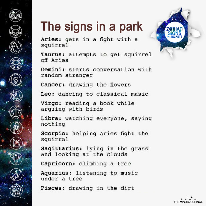 the signs in a park