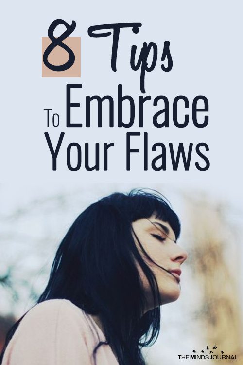 tips embrace your flaws pin