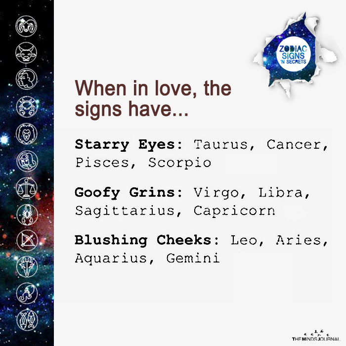 when in love, the signs have