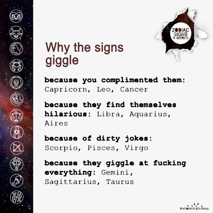 why the signs giggle